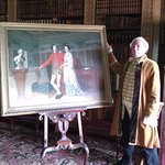 Painting of the 5th baronet and his wife in the library (+volunteer)