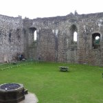 Doune Castle in courtyard