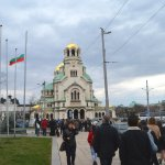 Free Sofia Tour's group is walking to the end station of the Tour, to the Alexander Nevsky Cathe