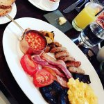 The cooked breakfast, incredible sausages!!