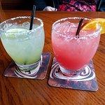 Key lime and blood orange margaritas...yum!!