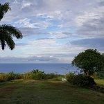 Blick vom Hostel aufs Meer, rechts untern Port Antonio