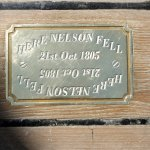 Plaque depicting the spot where Nelson fell following his mortal wound at Trafalgar