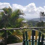 Blick von der privaten Bungalow Terrasse