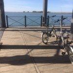 MUELLE RIO TINTO. Se puede recorrer en bicicleta