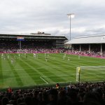 Craven Cottage view from the away fans area..