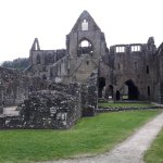 Tintern Abbey as you approach from the entrance