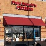 front of & entrance to Papa Saverio's Pizzeria