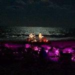Night time music on the beach
