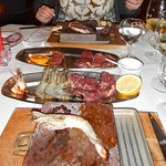 Steak and Prawns!