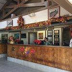 Front Desk at Pono Kai decorated for Thanksgiving.