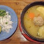 Albondigas soup with fixin's