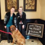 Staff welcome our dog Finny