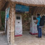Electronic Ticket Machines, pay with credit card, very fast