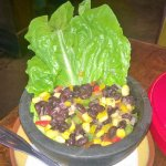 Side of black bean and corn salad