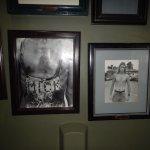 Photographs in the Women's Bathroom