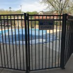 closed outdoor swimming pool