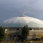 The Tacoma Dome after the rain