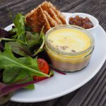 Our homemade chicken liver pate, served with real ale chutney