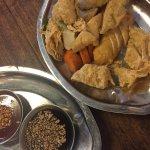 Very thick gula Melaka chendol and Ah Ma fish cake rojak