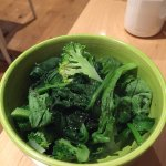 Broccoli, bak choy and spinach