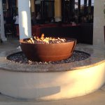 This fire pit is great to just sit and relax before your meal.