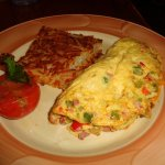 Omelet with hasbrowns