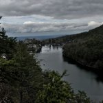 Lake Mohonk from the walking trail