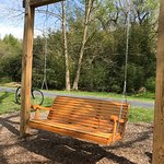 this swing was installed today along the Lebanon Valley part