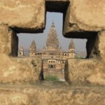 Temple from Orchha fort