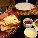 Fresh bread & garlic sauce