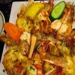 Tiger prawn with garlic butter sauce