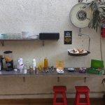 Zona de autoservicio de desayuno.