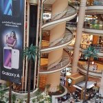 One of the many views from inside the mall