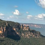 A view of the Three Sisters Peaks, a wonderful old Australian fable.