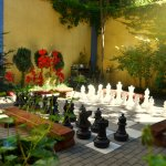 in for a game of chess in our garden?