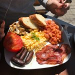 "The ""English Breakfast"" do not get if you aren't into beans and sausage"