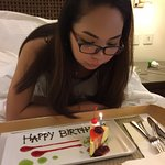 Complimentary Birthday cake for my girlfriend from the hotel made possible by DM Gerry Quinto. :
