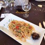 Spaghetti con i ricci e fettuccine alla Bobo con cozze e pecorino