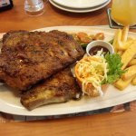 Pork ribs. Full rack. Very large portion. For 21 US$ you get thst plus free buffet/salad bar. It