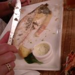 The remains of a deliciously cooked Flounder - finger lickin good!