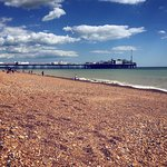 Brighton beach and the pier