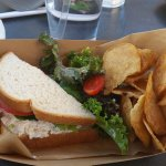 Half Sandwich with Salad.