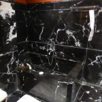 Black marble therefore difficult to focus!