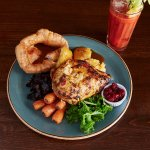 Roast Chicken & Bloody Mary - Sunday's at The Queens Head