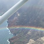 Kauai Coastline with a Rainbow