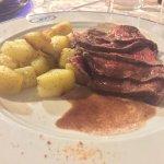 Tagliata all'aceto balsamico e patate (cena di Pasqua)