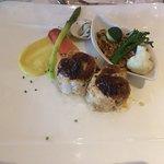 Foie-gras/médaillons de lotte
