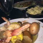 Low country boil and mac and cheese
