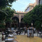 The beautiful courtyard where you can dine.